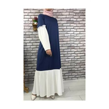 Hijab Pleated Dress - 5775 Indigo 5775-028