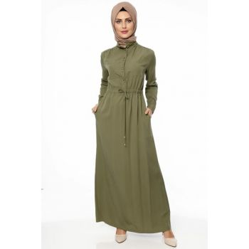 Women's Khaki Dress 00218YBELB18005