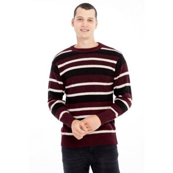 Crew Neck Pattern Sweater 79692