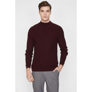 Men's Burgundy Sweater 9KAM97159LT