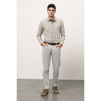 Men's Gray Cotton Pants 352709