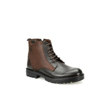 Genuine Leather Brown Men's Boots 2869