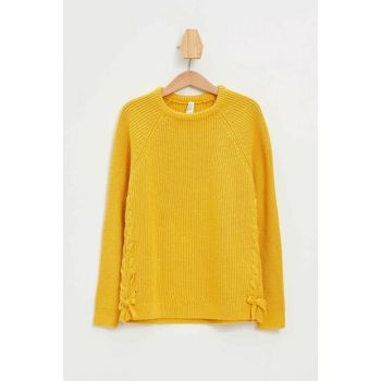 Yellow Girl Pullover Lace Sweater K9523A6.19AU.YL165