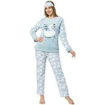 Women's Water Green Wellsoft Pajamas Set 8058