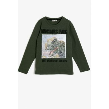Green Boy Printed Sweatshirt 0KKB16098TK