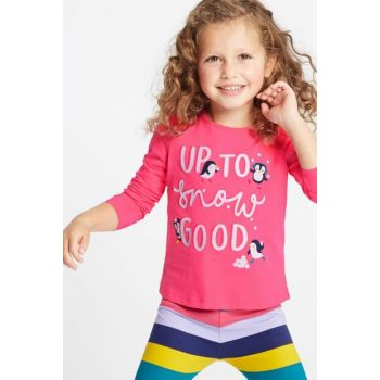 Pink Girl Kid Pure Cotton Patterned Top T77002112B