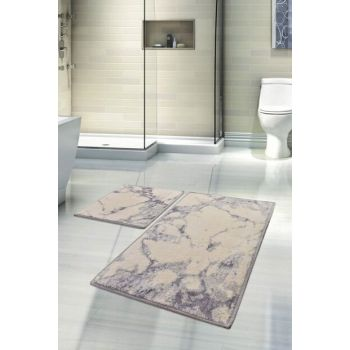 Sarah Floslu Cotton Fume 2 Li Set Bath Mat, Doormat Set 8682125931104