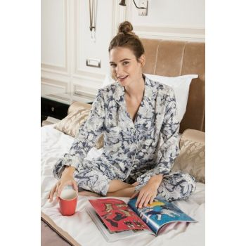 118 Bloombomb Front Buttoned Pajamas Set