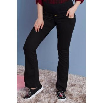 Pregnant Black Cotton Trousers Black Ty3417 TY3417