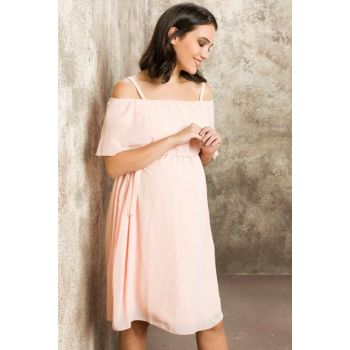 Maternity Dress Chiffon Powder TY8320