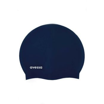 Women's Silicone Pool Cap Navy Blue AVS212519
