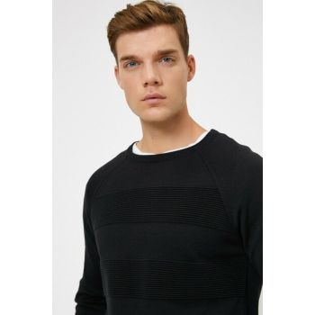 Men's Black Crew Neck Pullover 0KAM94069OT