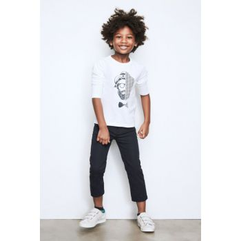 Boys' Navy Blue Trousers 17FW2NB3223