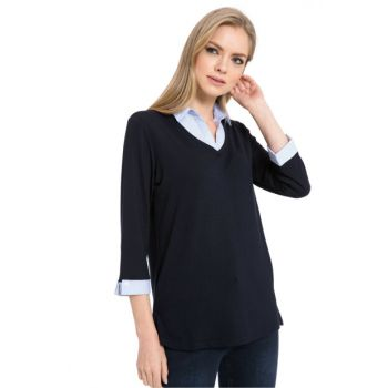 Women's Navy Blue T-Shirt 8SI691Z8