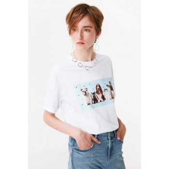 Women's White T-Shirt TW6190070117002