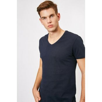 Men's Navy Blue T-Shirt 0KAM12138LK
