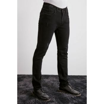 Black Male Destroyl Slim Fit Jeans TMNAW20JE0416