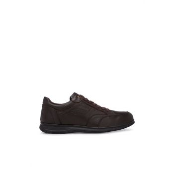 Genuine Leather Brown Men's Shoes 225052