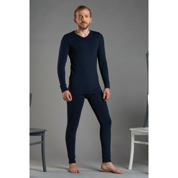 Men's Navy Blue Thermal Suit 9119