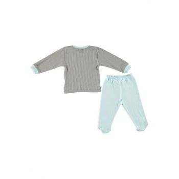 Baby Boy Adventure Snap Long Sleeve Cardigan Booties Bottom 2 Set 19KAZZESET001