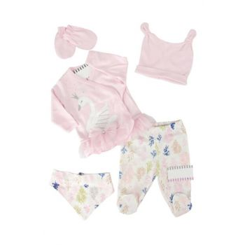 Pink Swan Baby Girl 5sets Hospital Exit AF5044