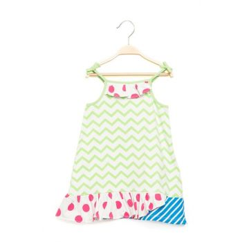 Girl Dresses with Strap Green Sbakcelb314_14-0232 SBAKCELB314