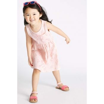 Girl Kids Pure Cotton Unicorn Patterned Dress T77003214B