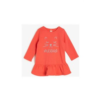 Red Baby Printed Dress 0KMG15294OK