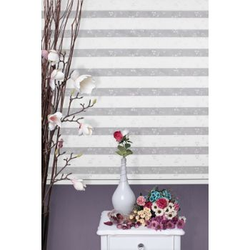 Zebra Roller Blinds Curtain Embroidered + Skirt Slice Gift Z-101V32