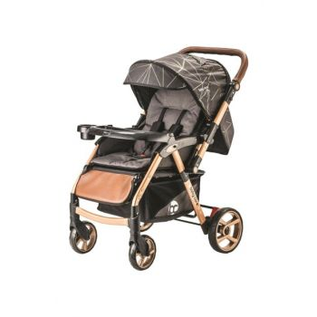 Bc-50 Maxi Double Way Baby Stroller Gold Black 8698943143735