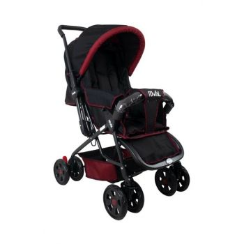 Lucido Bidirectional Baby Stroller Burgundy Black RV102