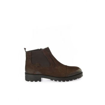 Genuine Leather Brown Men Boots & Booties 02BOH168980A680
