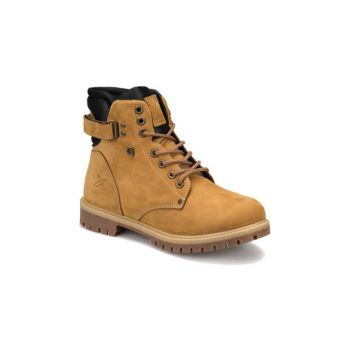 Genuine Leather Men Boots & Bootie - SALVADOR Yellow Men Leather Boots-000000000100266005