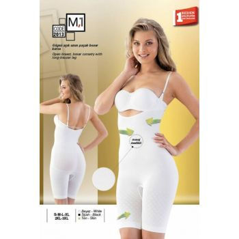 Pregnant Skin Seamless Chest Open Long Long Boxer Lohusa Corset 2013