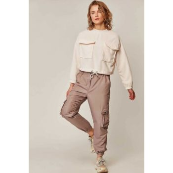 Women's Stone Parachute Fabric Cargo Pants 10336 Y19W126-10336