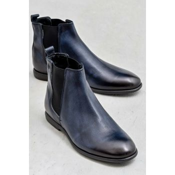 DOMENIC Genuine Leather Men Navy Blue Boots 19KKS5025