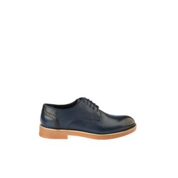Genuine Leather Navy Blue Men Shoes 02AYH166270A680