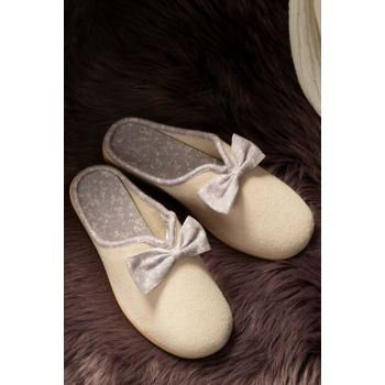 Women's Bow Slipper - Beige 1KTERL0326-8682116106511