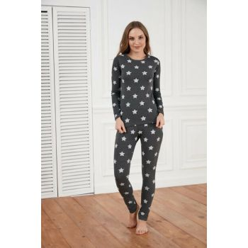 Women's Smoked Printed Pajamas Set A1414