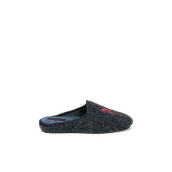 OUT 9PR Navy Blue Men's Slippers