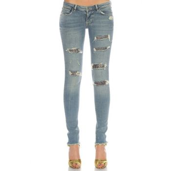 Women's Pants Gu71W64A31D2Ck0-Denim GU71W64A31D2CK0-DENIM