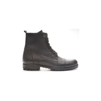 Genuine Leather Black Floter Men Boots TR_BUL-200048