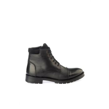 Genuine Leather Black Men Boots & Bootie 02BOY163030A100