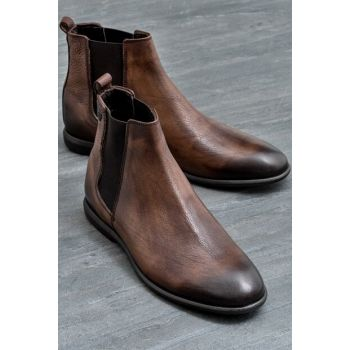 DOMENIC Genuine Leather Men Taba Boots 19KKS5025