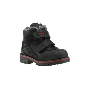 12118-a Black Inside Thermal Fur Boys Kids Sports Boots Shoes 17A00771