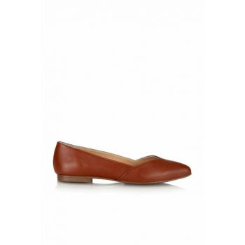 Genuine Leather Taba Women Flats 01AYH130220A370