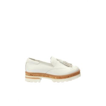 Genuine Leather White Women Shoes 120130007076