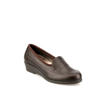 Brown Women's Wedge Heeled Shoes 92.101023.Z
