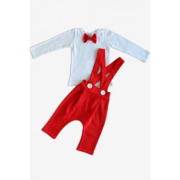 Red Harem Pants with Bow Tie // 12-18 Months TKM-0027
