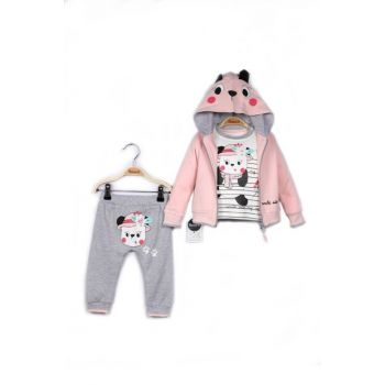 Miniworld Baby Girl Cardigan Sweatshirt Pants 3-Piece Suit 9-24 Months 14792 MINI14792
